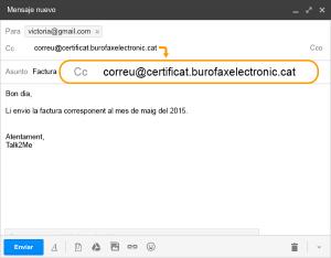 Com enviar un correu electrònic certificat